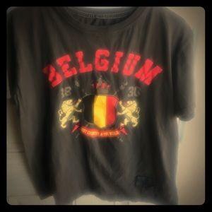 VINTAGE BELGIUM CROP STYLE TEE.